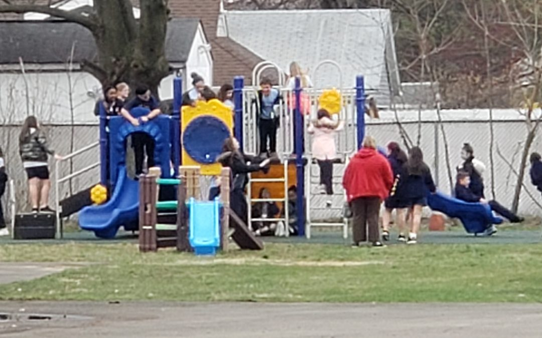 First day using our new playground!