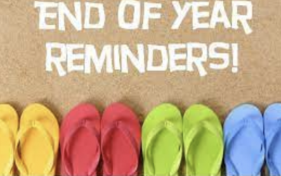 End Of Year Reminders